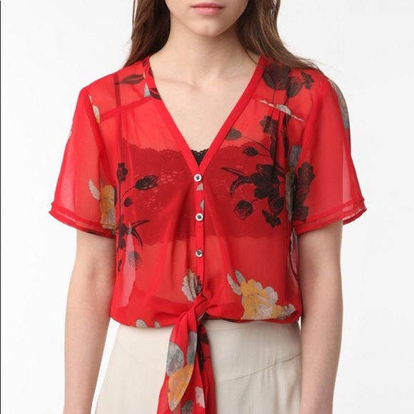 Kimchi Blue Sheer Blouse from Urban Outfitters